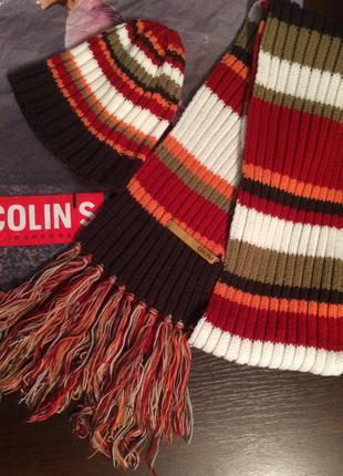 Вязанные шарф и шапка colin's