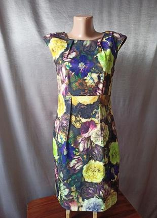 Платье цветочный принт гобелен