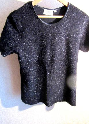Черная нарядная футболка,с люрексом,блестящая!распродажа!дешево!