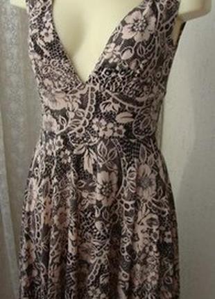 🔥распродажа ❗🔥 новое лёгкое летнее платье сарафан вискоза jane nomrman стрейч трикотаж с кокеткой