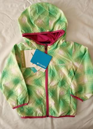 Ветровка дождевик лёгкая курточка летняя зелёная коламбия columbia