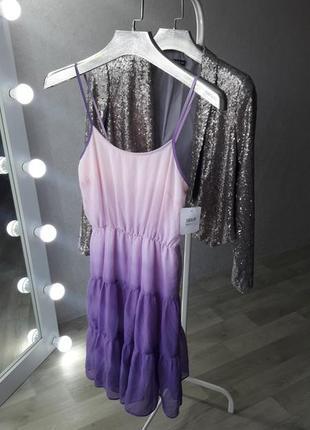 Платье | платье омбре | ярусное платье | платье с рюшами