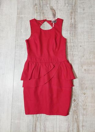 Новое красное вечернее платье