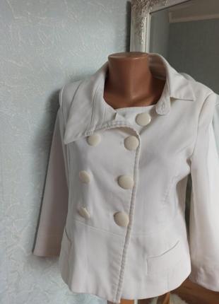 Пиджак белый укороченный