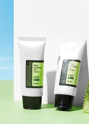 Солнцезащитные крем с алоэ cosrx aloe soothing sun cream spf50+ pa+++, 50 мл