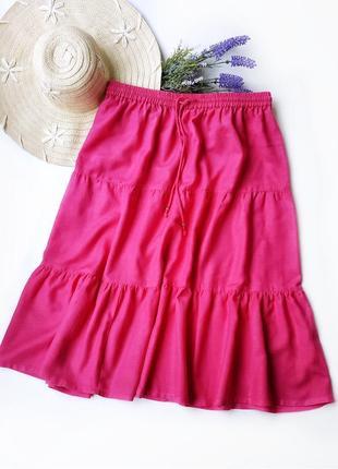 Натуральная ярусная пляжная юбка миди being casual.
