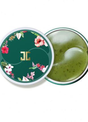 Гидрогелевые патчи с зеленым чаем jayjun green tea eye gel patch, 60 шт