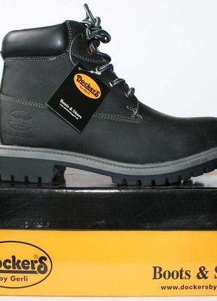 Распродажа зимние ботинки dockers оригинал. натуральная кожа, мех. унисекс 35