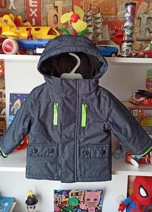 Демисезонная куртка rebel на мальчика 9-12 мес, 74-80 см
