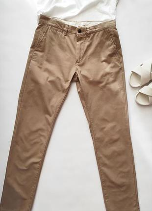 Коттоновые брюки от h&m размер 30, унисекс, высокий рост