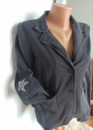 Пиджак накидка звезда пайетки