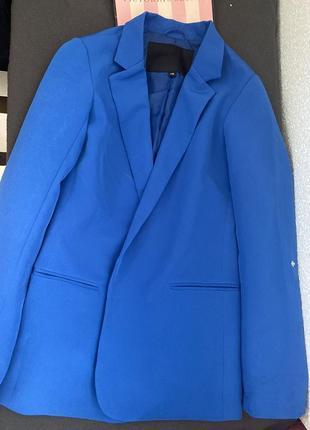 Пиджак синий cropp