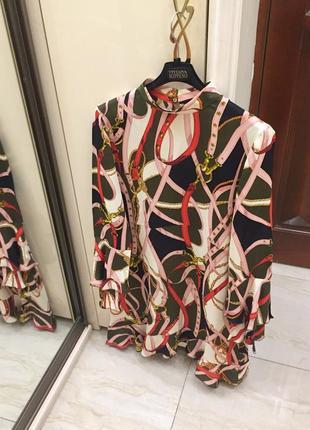 """Нове.плаття люкс бренду zara woman """"hermès """" print dress"""
