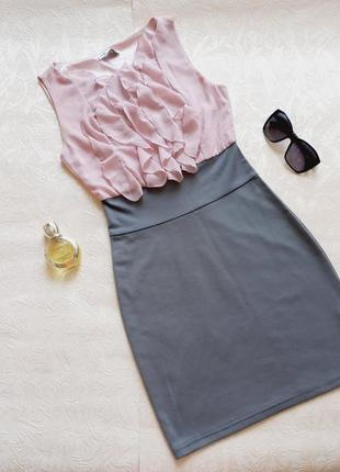 Платье плаття сукня трикотажна трикотаж шифонова шифон
