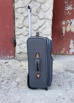 Чемодан тканевый дорожный на колёсах, дорожный чемодан ручная кладь, валіза дорожня на колесах2 фото