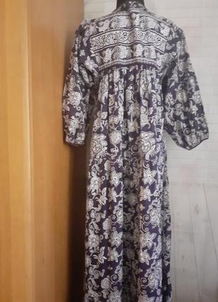 Хлопковое макси платье