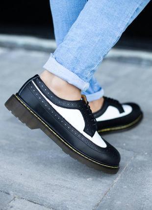 Шикарные туфли унисекс dr.martens 1461 low наложка
