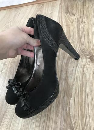 Туфли замш на каблуку италия5 фото