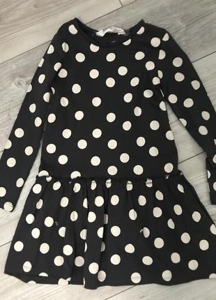 Милое платье в горошек от hm 4-6 лет