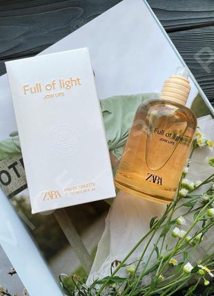 Zara full of light духи парфюм туалетная вода оригинал испания