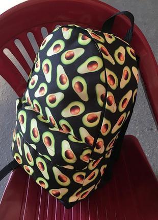 Школьный портфель авокадо принт, новый спортивный рюкзак на каждый день