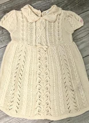 Шикарное оригинальное вязаное платье от ralph laurent 9-12m