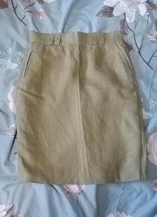 Красивая юбка лен дизайнера bernd berger