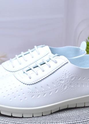 Белоснежные кеды-кроссовки для взрослых и подростков !3 фото