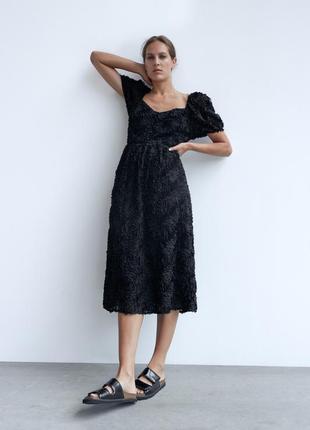 Новое фактурное платье zara