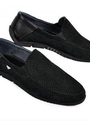 Мокасины туфли мужские 40-45 черный