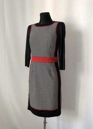 Sportalm платье геометрия колорблок черный белый красный