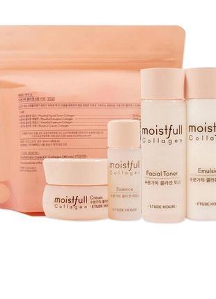 Набор миниатюр для интенсивного увлажнения кожи etude house moistfull