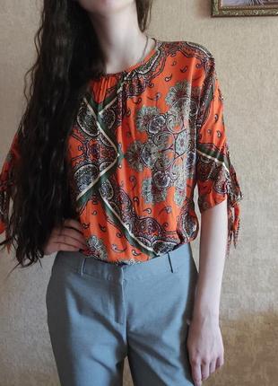 Яркая летняя блузка р. м/s primark