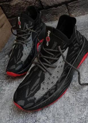Легкие и стильные мужские кроссовки хорошего качества из дышащего материала