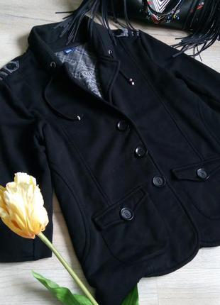Стильний трикотажний піджак-кофта на натуральній підкладці, батал