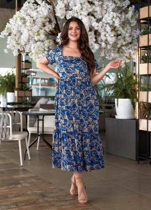 Женское платье, длинное платье, платье в цветочек, нарядное платье