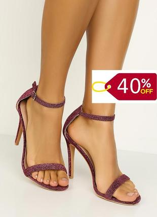 Супер пропозиція!!! знижка 40%! трендові блискучі босоніжки відомого англійського бренду asos