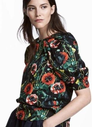 Очень красивая хлопковая блуза с маками