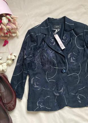 Лен льняной пиджак жакет в стиле zara