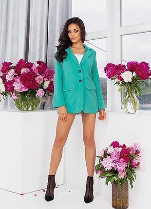 Новый женский стильный ментоловый пиджак
