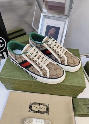 Стильные кеды кроссовки в стиле gucci