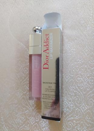 Блеск помада для увеличения губ плампер dior addict lip maximizer 001pink