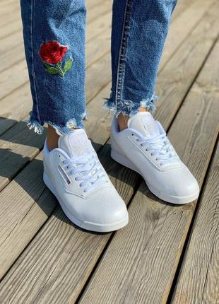 ❤ женские белые кожаные кроссовки reebok princess lite white   ❤