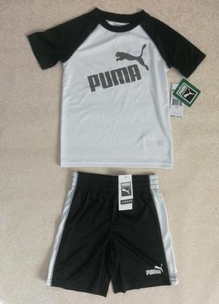 Puma original футболка шорты летний набор для мальчика