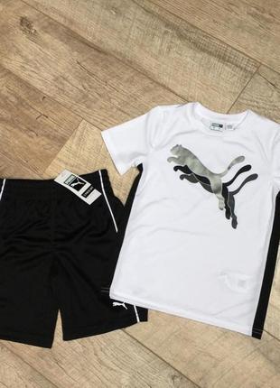 Комплект футболка шорты для мальчика пума оригинал puma original