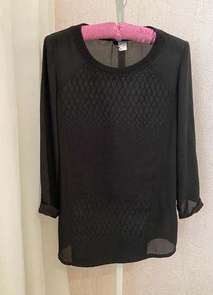 Базовая блуза чёрная лёгкая zara mango asos