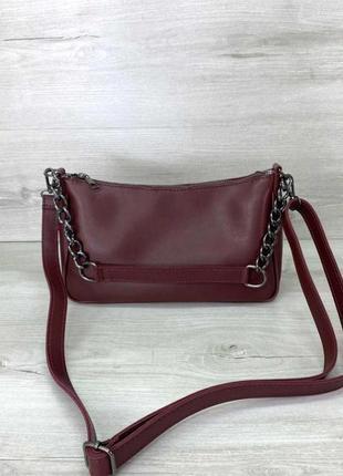 Женская молодежная сумка с плечевым ремнем aliri-622-27 бордовая