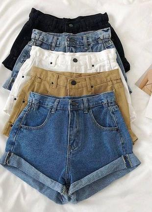Джинсовые шорты джинс коттон
