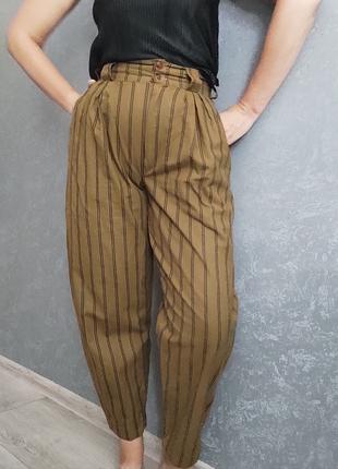 Винтажные олдскул брюки бананы слоучи мом moms jeans из хлопка хлопок натуральные
