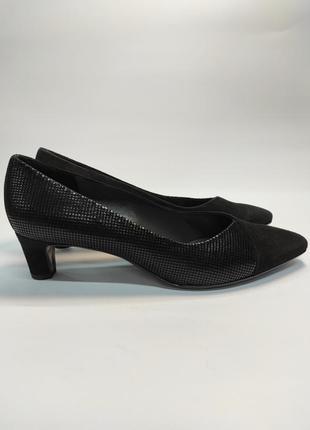 Туфли кожаные на каблуке peter kaiser премиум бренд офис деловой стиль